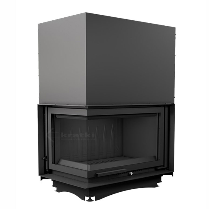 KRATKI POLAND Wood Fireplace Corner Left Oliwia 18 Kw Raisable