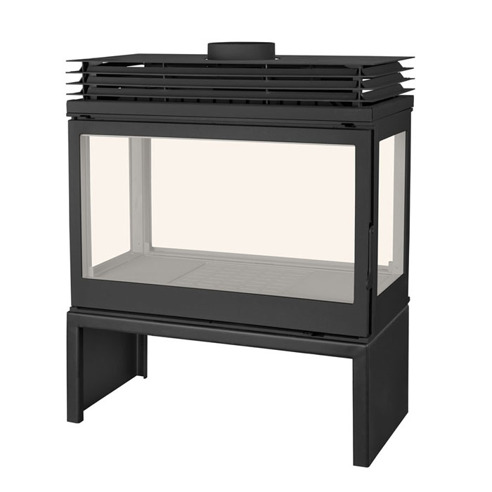 LISEO Wood Stove 4-Sided