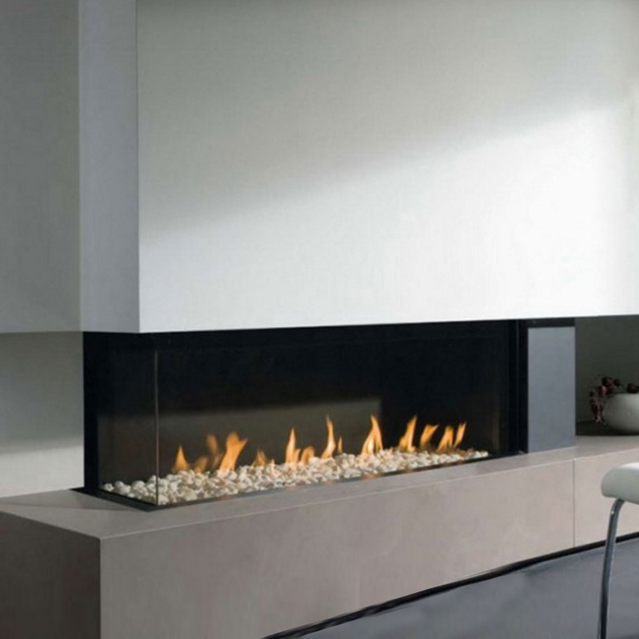 LINEAFIRE UK Gas Fireplace Corner Left 100