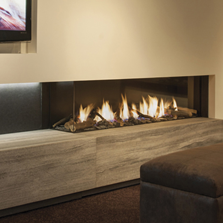 LINEAFIRE UK Gas Fireplace Corner Left 150
