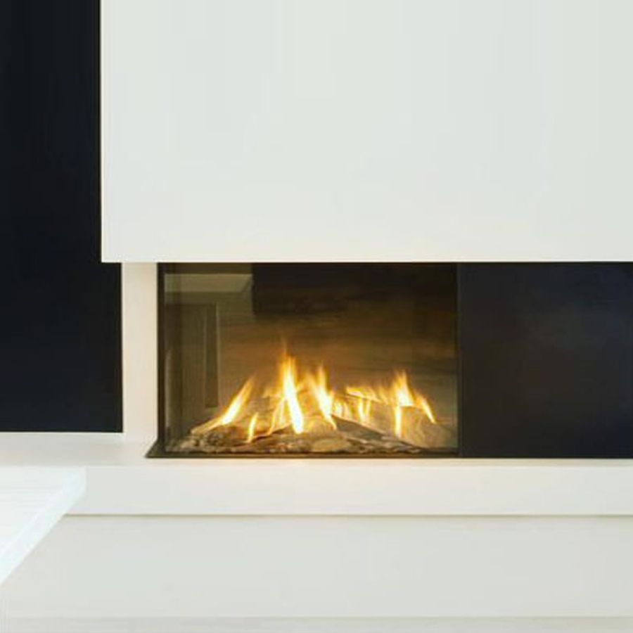 LINEAFIRE UK Gas Fireplace Corner Left 70