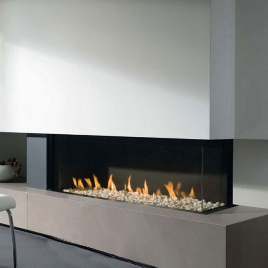 LINEAFIRE UK Gas Fireplace Corner Right 100