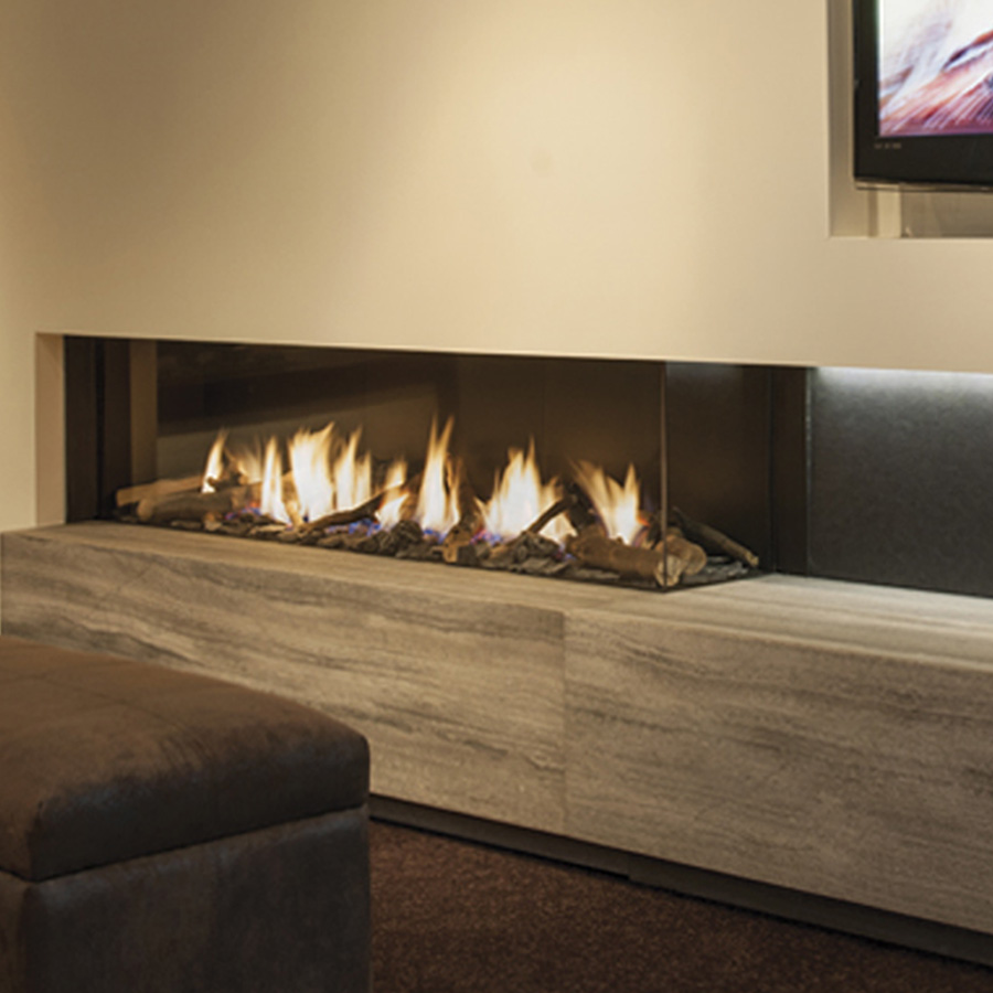 LINEAFIRE UK Gas Fireplace Corner Right 150
