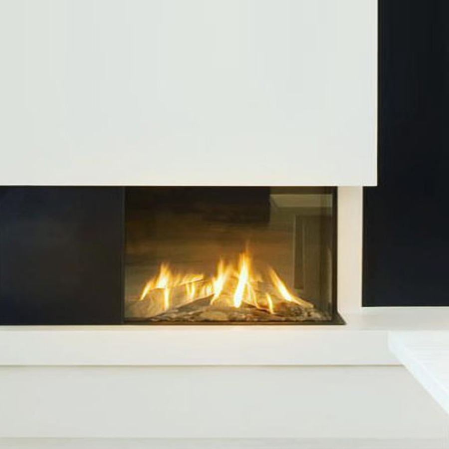 LINEAFIRE UK Gas Fireplace Corner Right 70