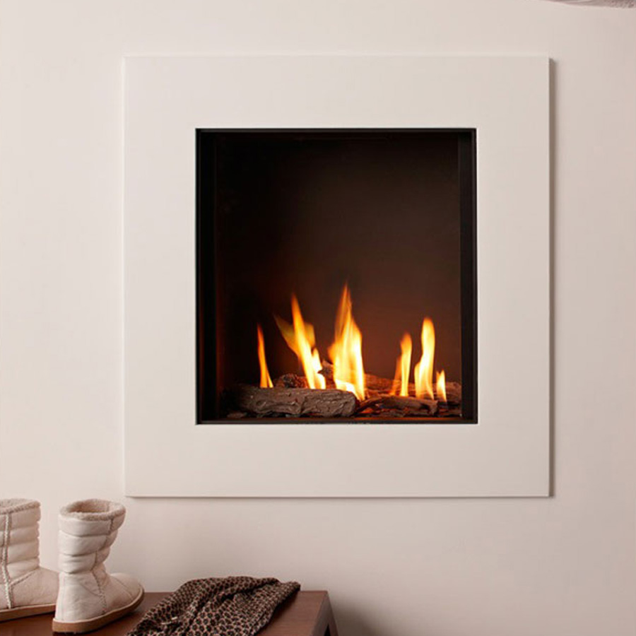 LINEAFIRE UK Gas Fireplace Square 70 cm