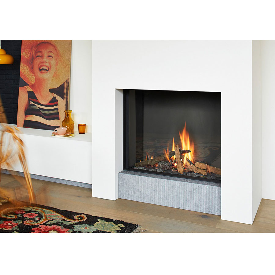Lineafire Fireplaces Square 80 Wood And Gas Fireplaces