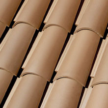 LA ESCANDELLA Roof Tiles Brown  Curved