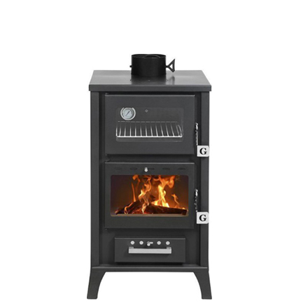 GEKAS Wood Stove with Oven MG 400 Black