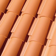 LA ESCANDELLA Roof Tiles Red Curved