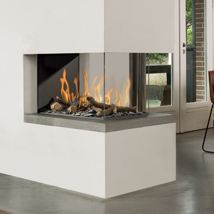BELLFIRES HOLLAND Gas Fireplace Room Divider Bell Medium3