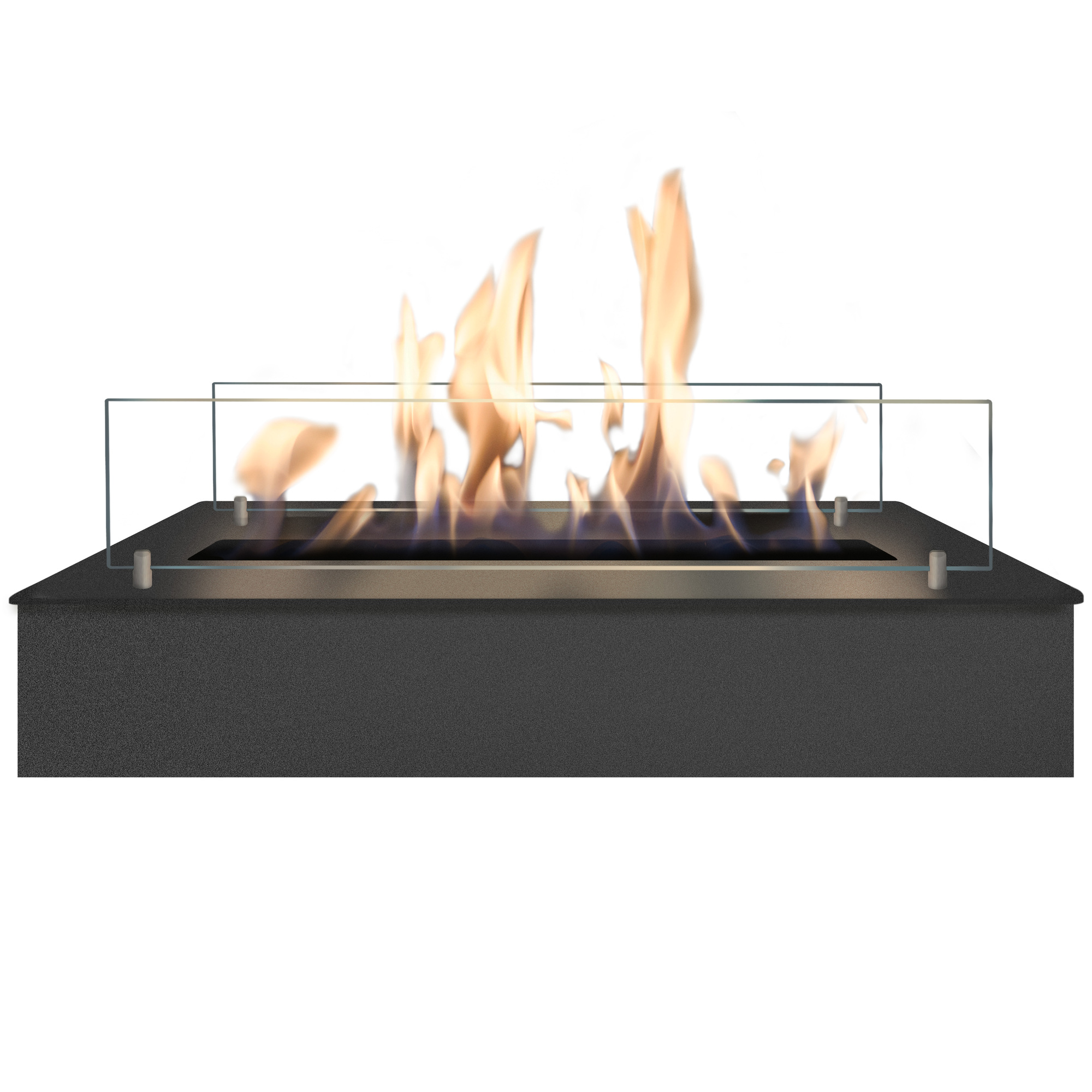 RUBY HOLLAND Bioethanol Burner 5820 Lb Big Burner Black + Glass