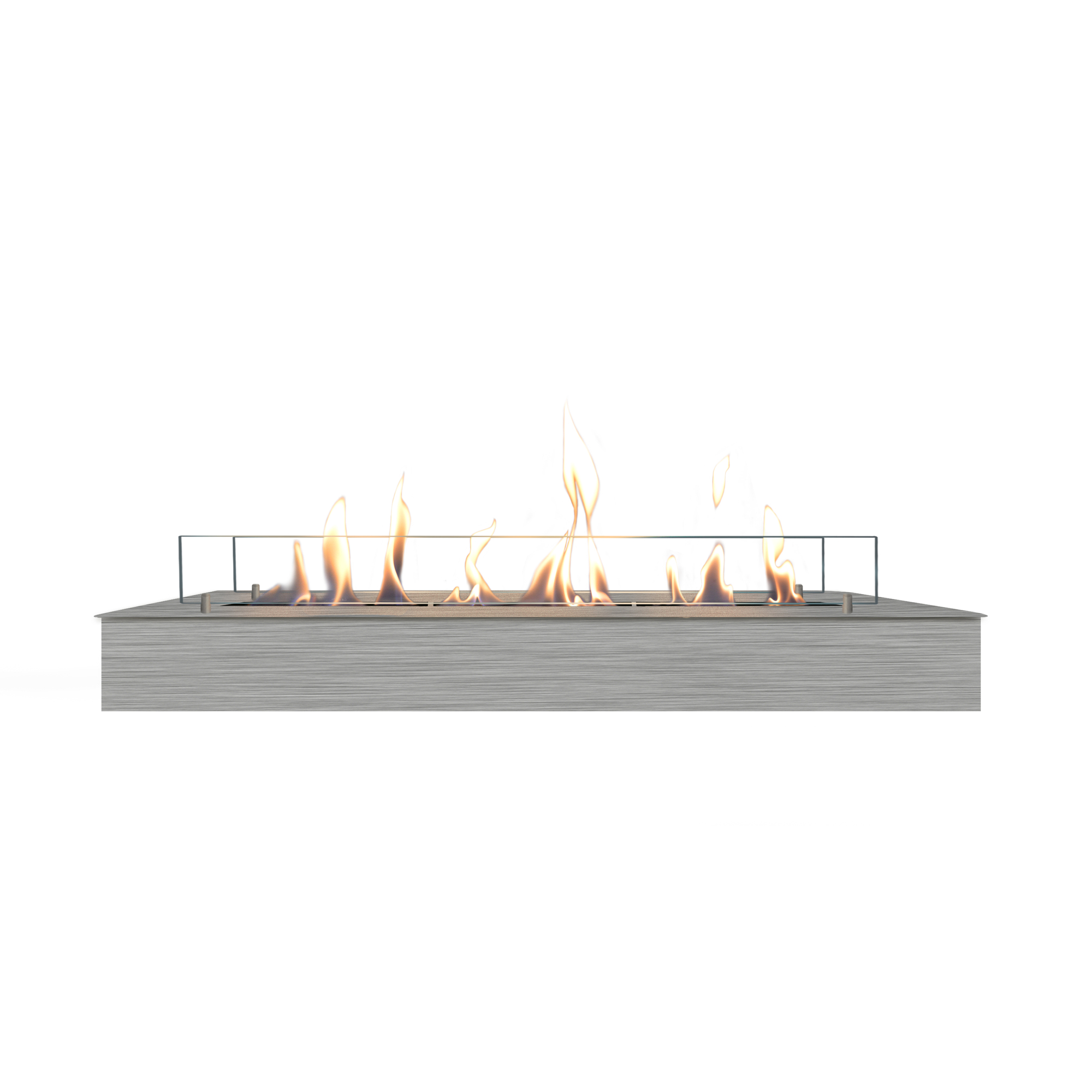 RUBY HOLLAND Bioethanol Burner 8014 LS Line Burner Inox + Glass