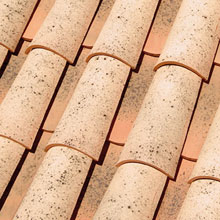 LA ESCANDELLA Roof Tiles Salmon Curved