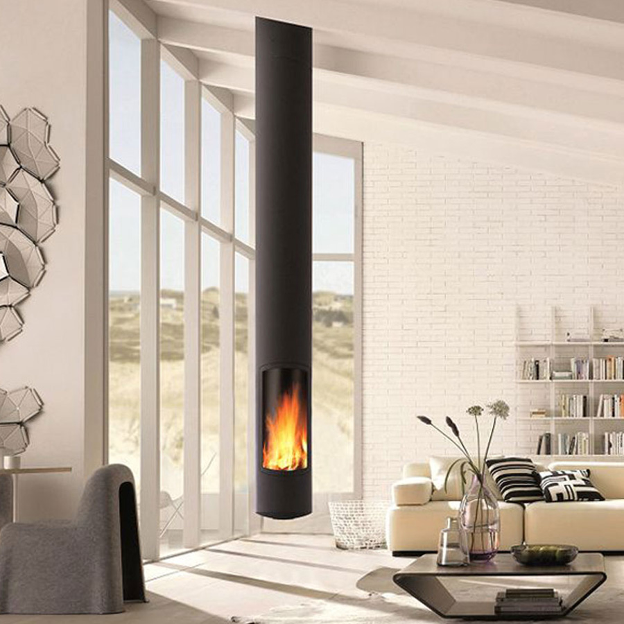 FOCUS FRANCE Wood Fire Central SlimFocus Suspended Fixed