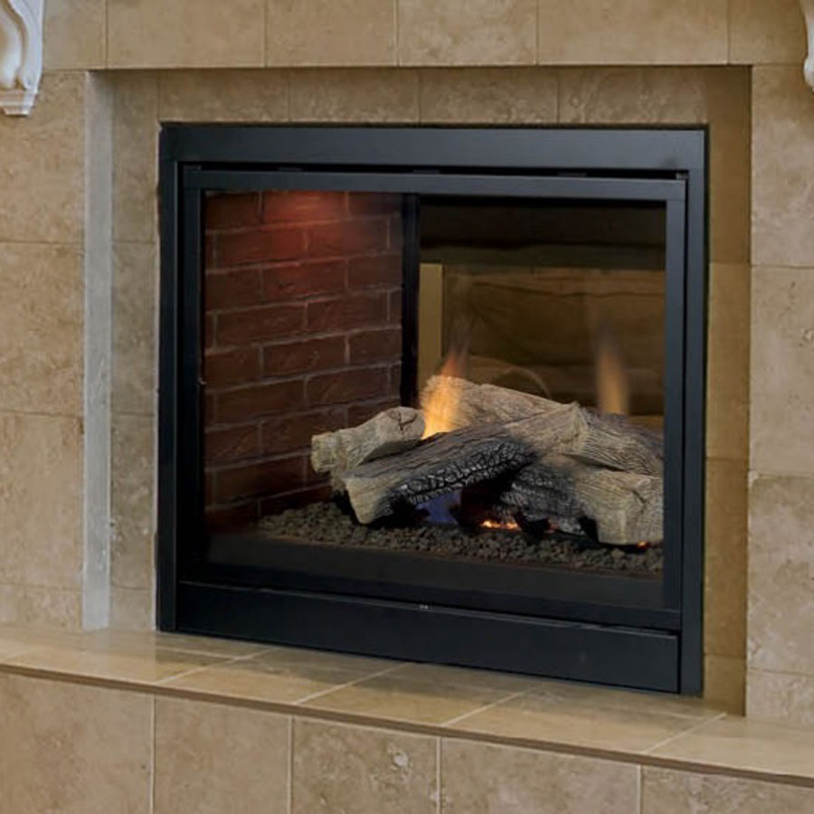 Monessen Fireplaces See Thru Lo Rider Direct Vent Wood And Gas Fireplaces Cheminee Stones