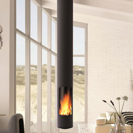 FOCUS Wood Fireplace Central Slimfocus Rotating