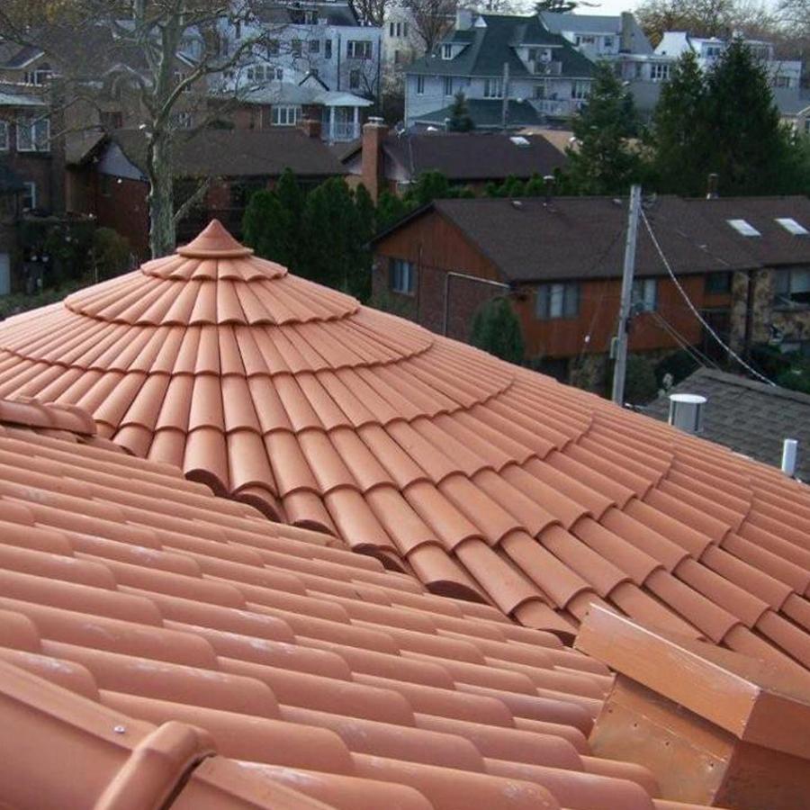 La Escandella Roof Tiles Red Curved