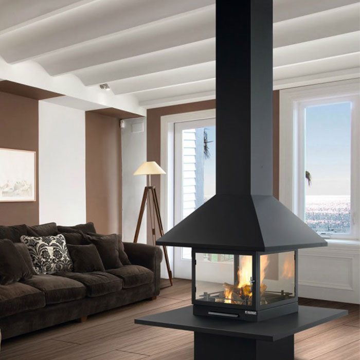TRAFORART SPAIN Gas Fireplace Central Vulcano