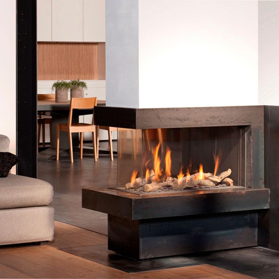 Bellfires Fireplaces View Bell Room Divider Medium Wood