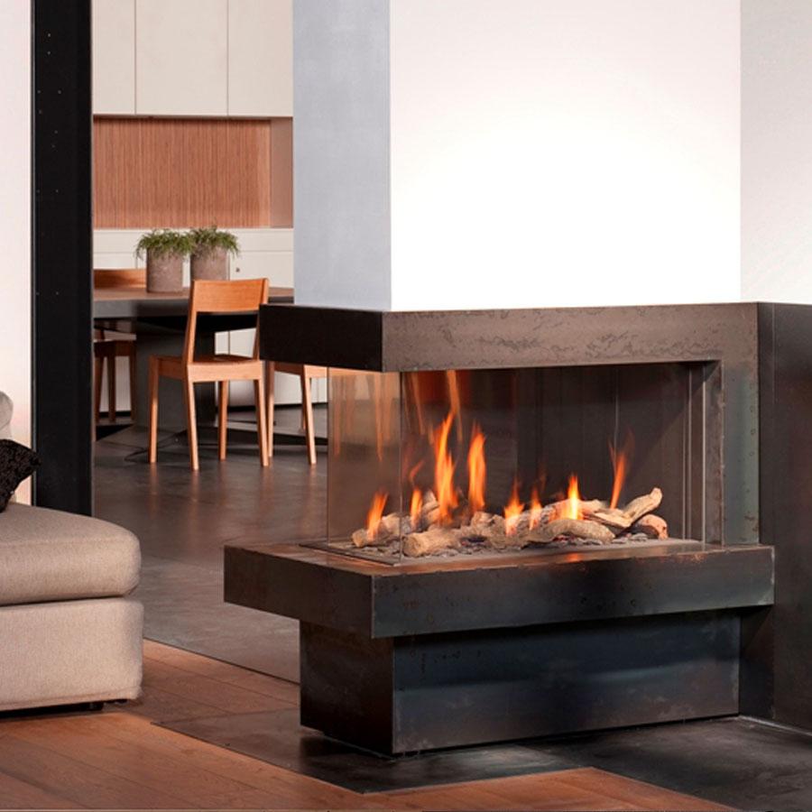 Bellfires fireplaces view bell room divider medium 90 cm for Fireplace room divider