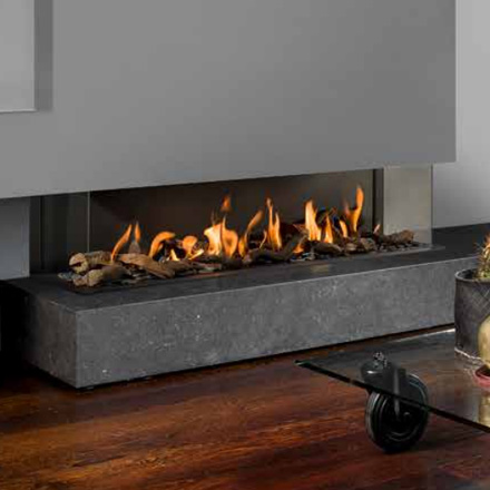 BELLFIRES HOLLAND Gas Fireplace 3-Sided View Bell XL3, Panel