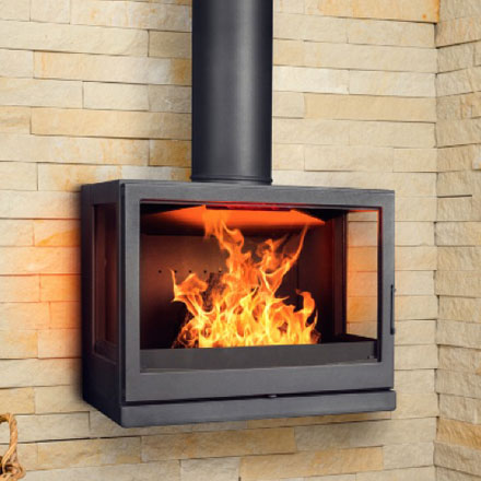 LISEO CZECH Wood Fireplace 3-Sided W7LR