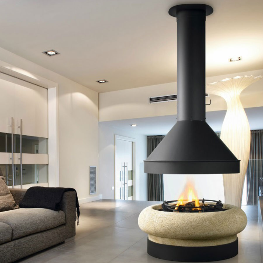 Traforart Fireplaces Zeus Gas Without Glass Wood And Gas