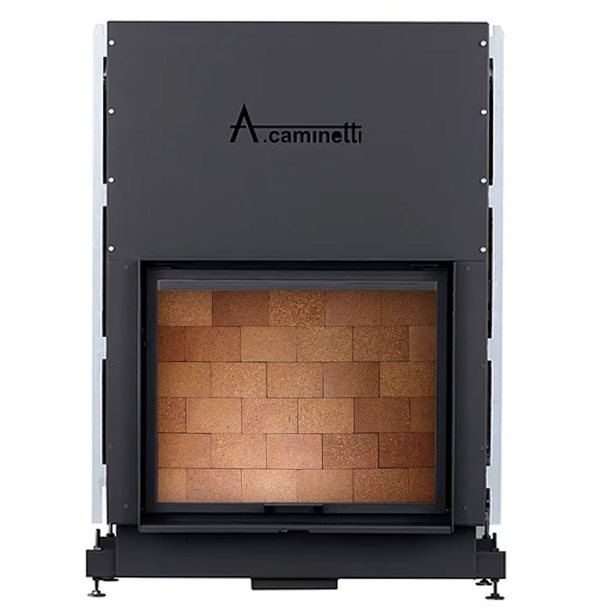 ACAMINETTI ITALY Wood Fireplace Horizon 120 High Rustic