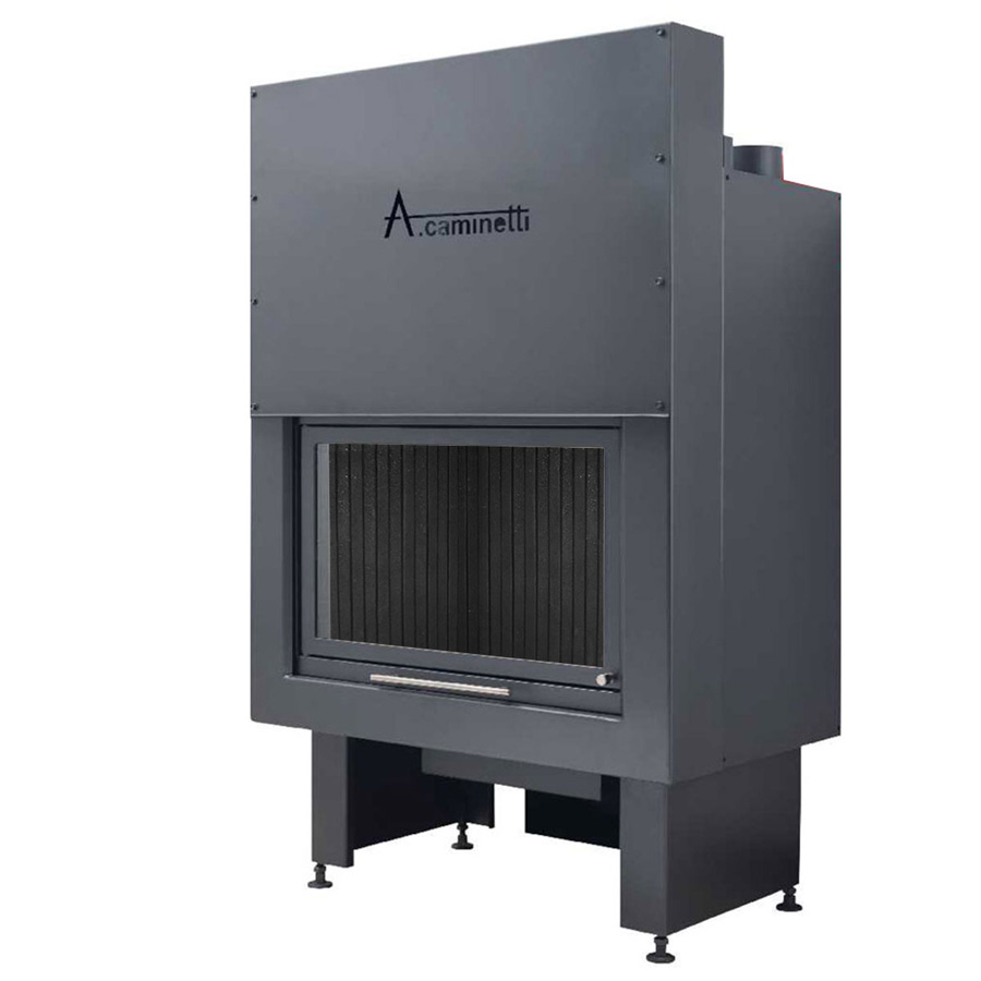 ACAMINETTI Wood Fireplace Horizon 100 with Cast Iron Back