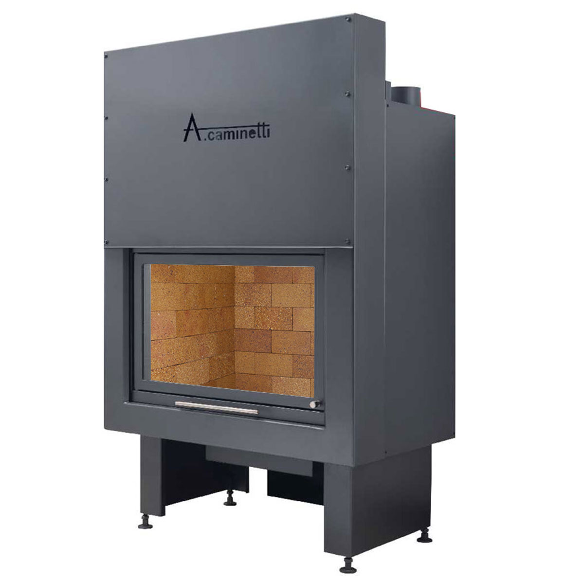 ACAMINETTI Wood Fireplace Horizon 100 Rustic
