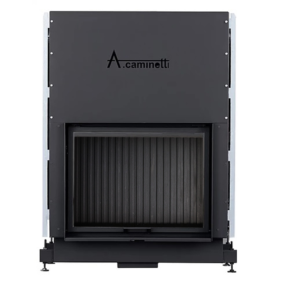 ACAMINETTI ITALY Wood Fireplace Horizon 120 with Cast Iron Back