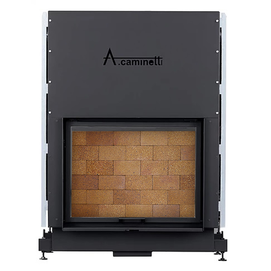 ACAMINETTI Wood Fireplace Horizon 120 Rustic