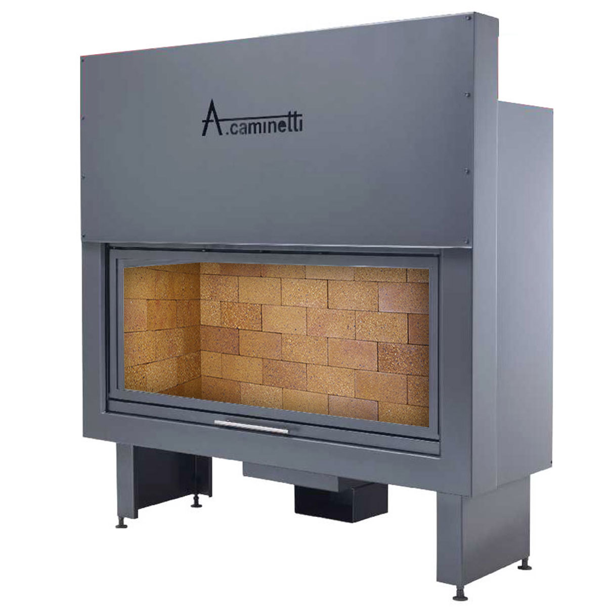 ACAMINETTI Wood Fireplace Horizon 140 Rustic