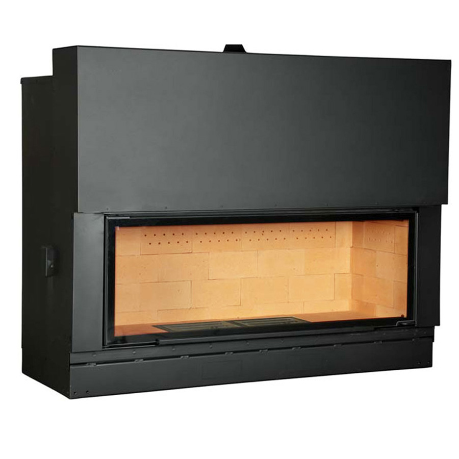 AXIS FRANCE Wood Fireplace Horizontal 160 Yellow Brick