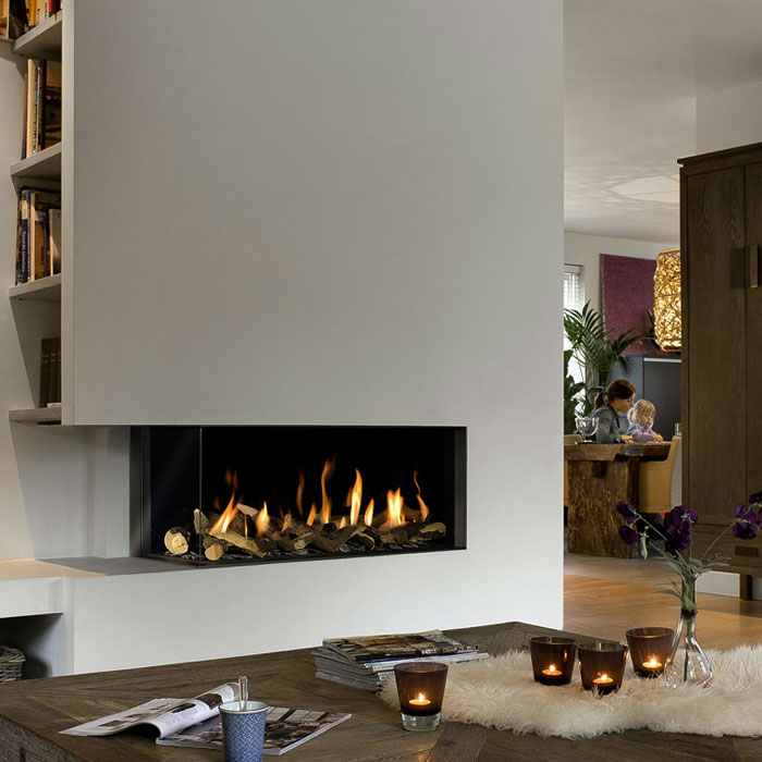 BELLFIRES HOLLAND Gas Fireplace Corner Left Large 3, Hidden Door, St