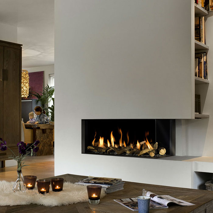 BELLFIRES HOLLAND Gas Fireplace Corner Right Large 3, Hidden Door, S