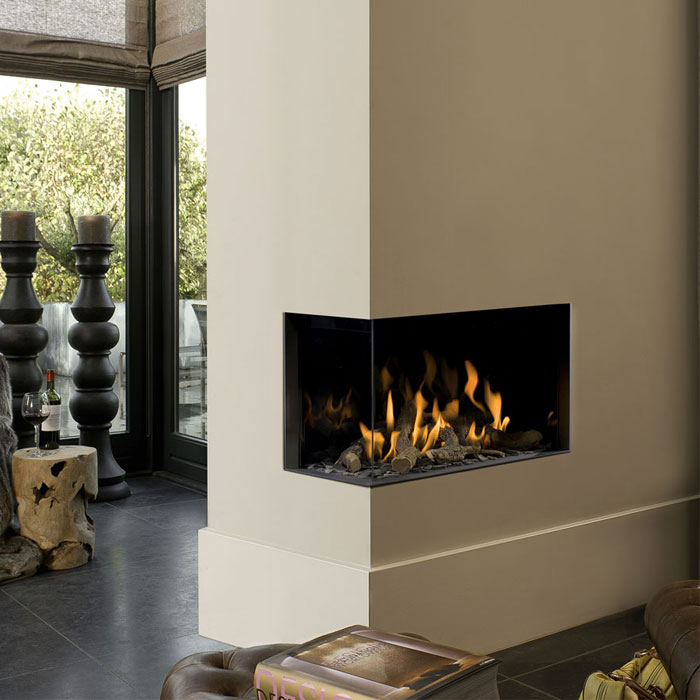 BELLFIRES HOLLAND Gas Fireplace Corner Left Small 3, Hidden Door, St