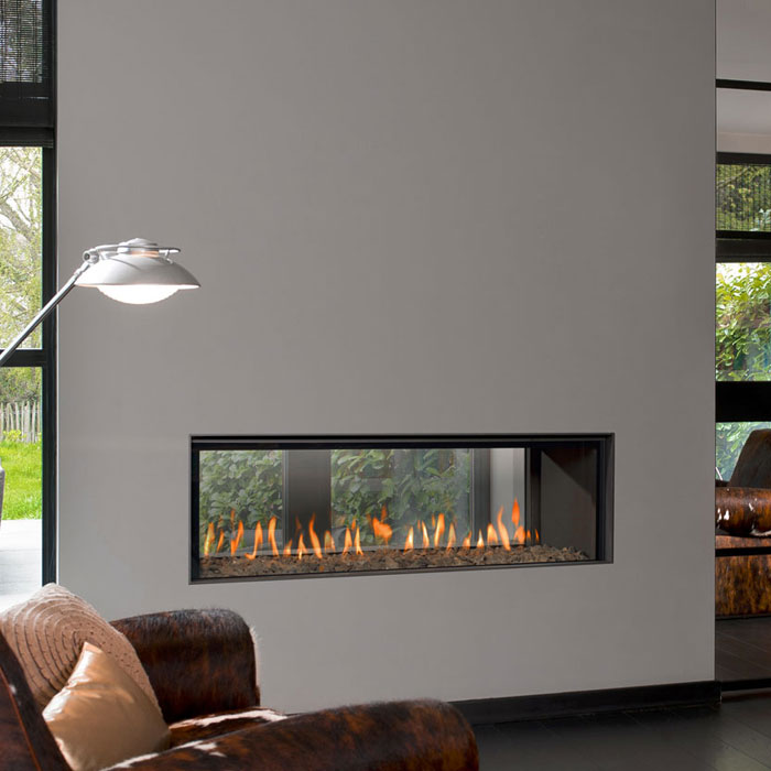 BELLFIRES Gas Fireplace Tunnel Horizon Bell Large 3, Floatin