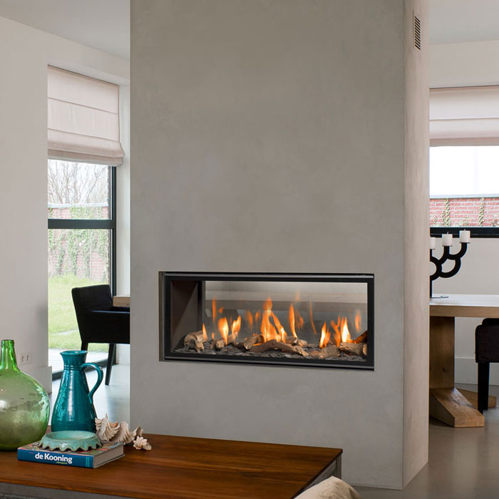 BELLFIRES Gas Fireplace Tunnel Horizon Bell Small 3 Floating