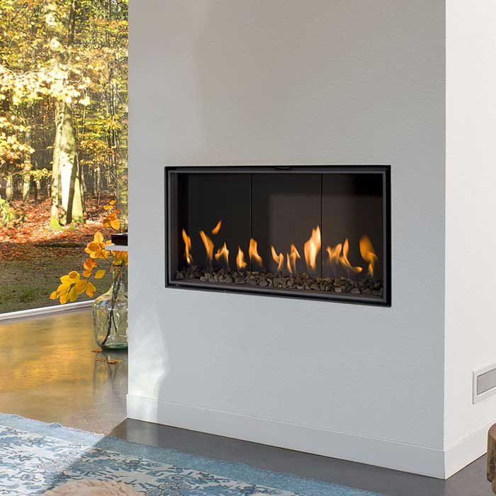 BELLFIRES HOLLAND Gas Fireplace Horizon Bell XS3, HD Door, Mirror