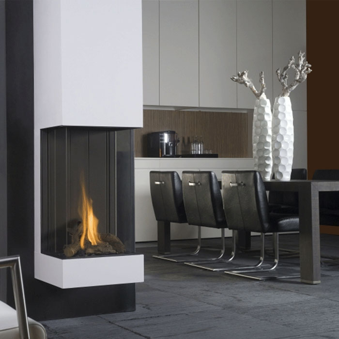 BELLFIRES HOLLAND Gas Fireplace 3-Sided View Bell Vertical 3, Panel