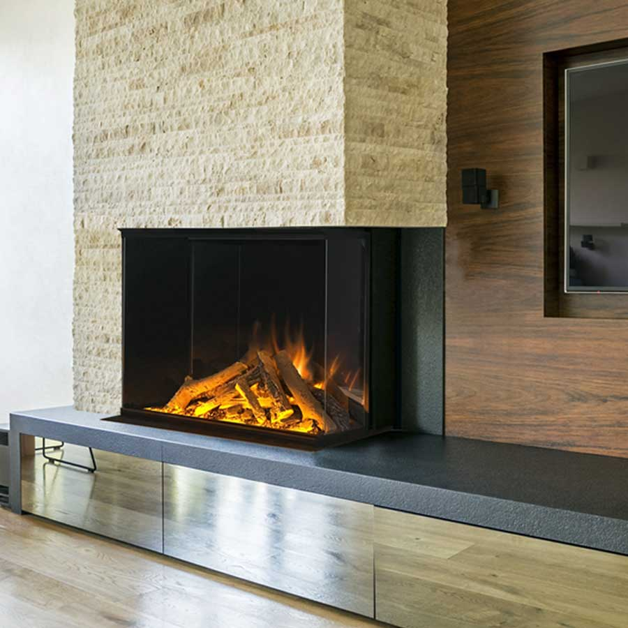 Electric Fireplace Right 80