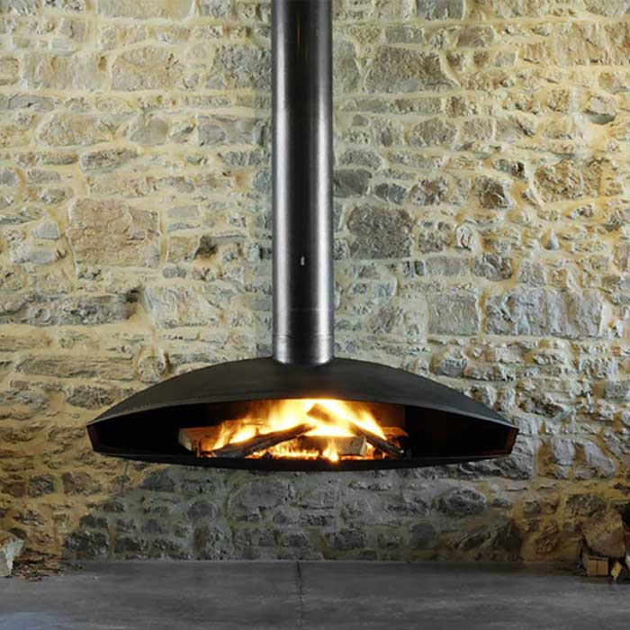 FOCUS FRANCE Wood Fire Central Antefocus Waxed Steel