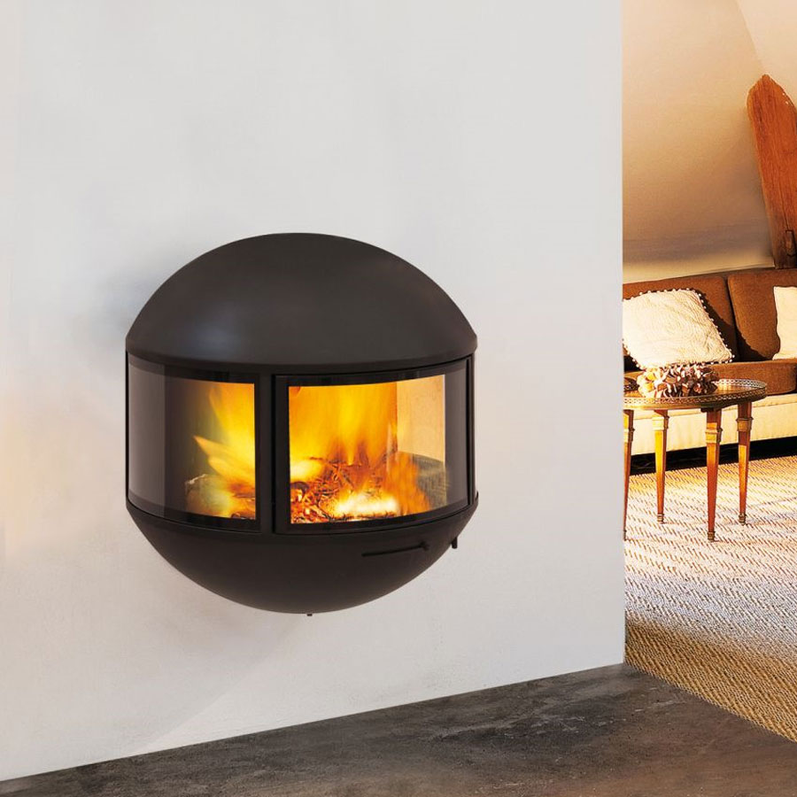 FOCUS FRANCE Wood Fire Frontal Edofocus 630 Rear Outlet
