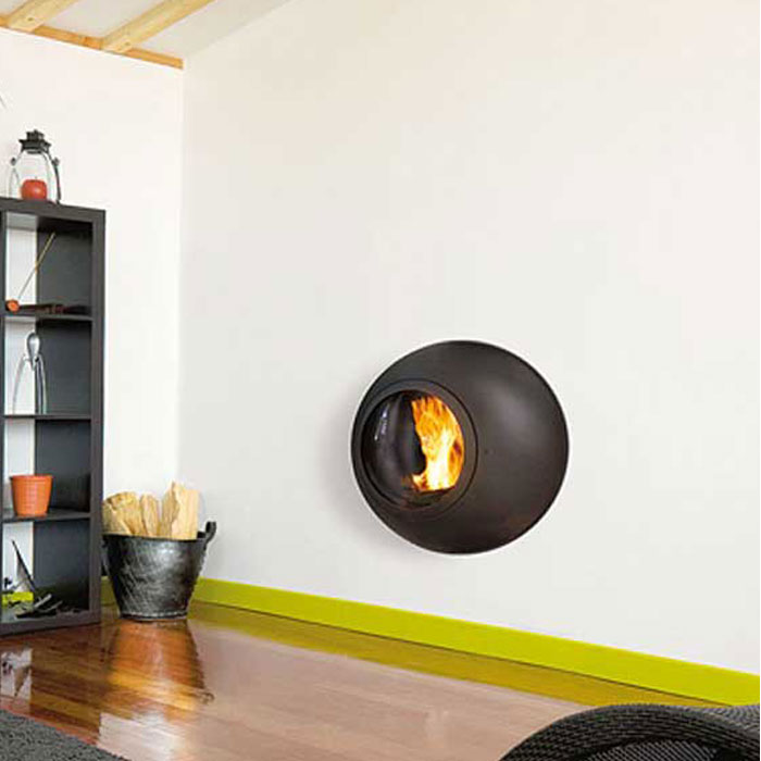 FOCUS FRANCE Wood Fire Frontal Emifocus with Glass Rear Outlet