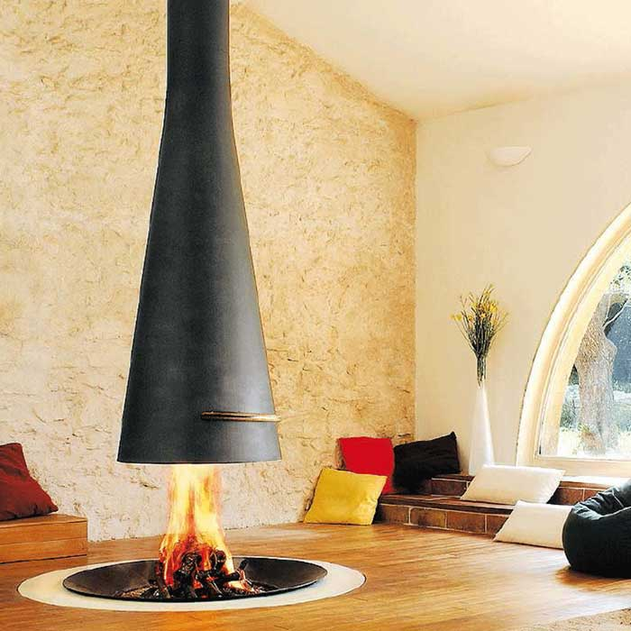 FOCUS Wood Fireplace Central Filiofocus Telescopic 2000