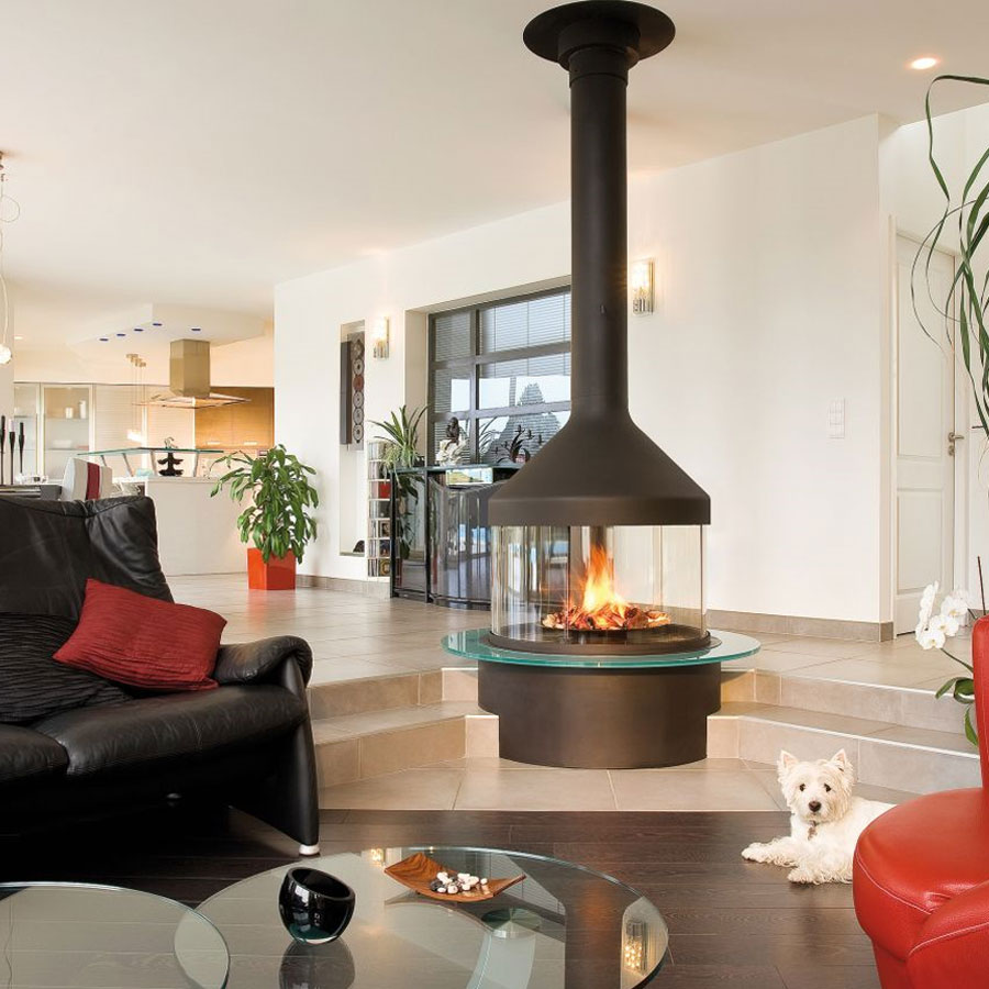 FOCUS FRANCE Gas Fire Central Meijifocus Black