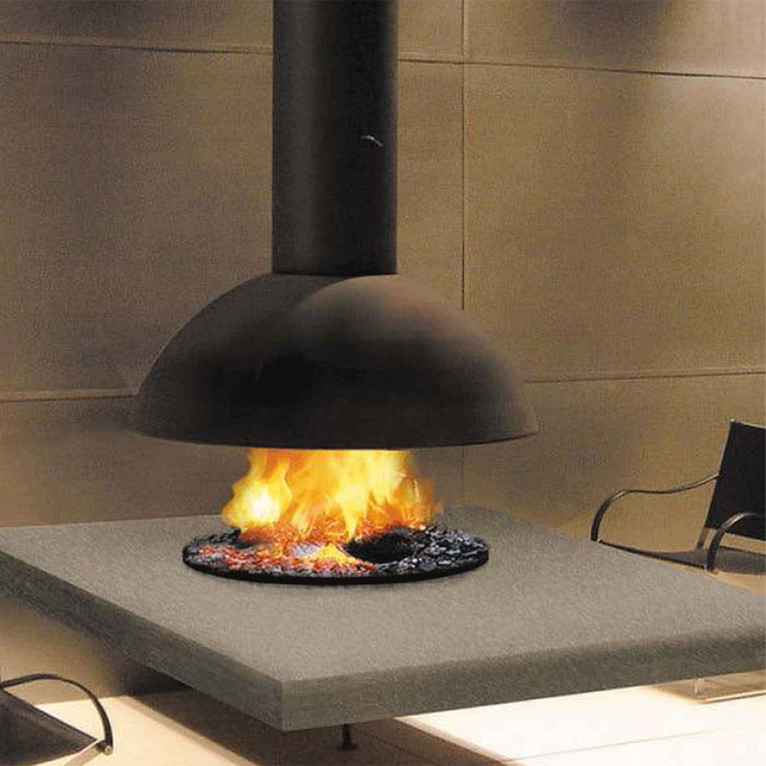 FOCUS FRANCE Wood Fire Mezzofocus Hood Black