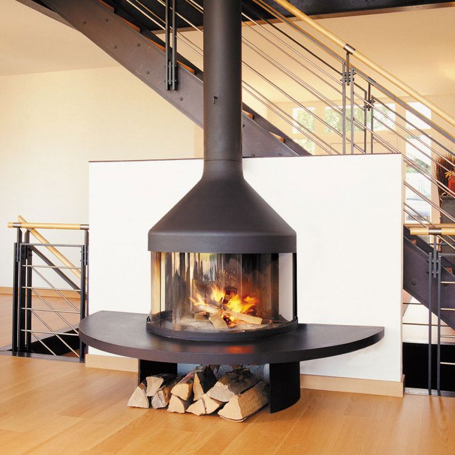 FOCUS FRANCE Wood Fire Frontal Optifocus 1250 Black