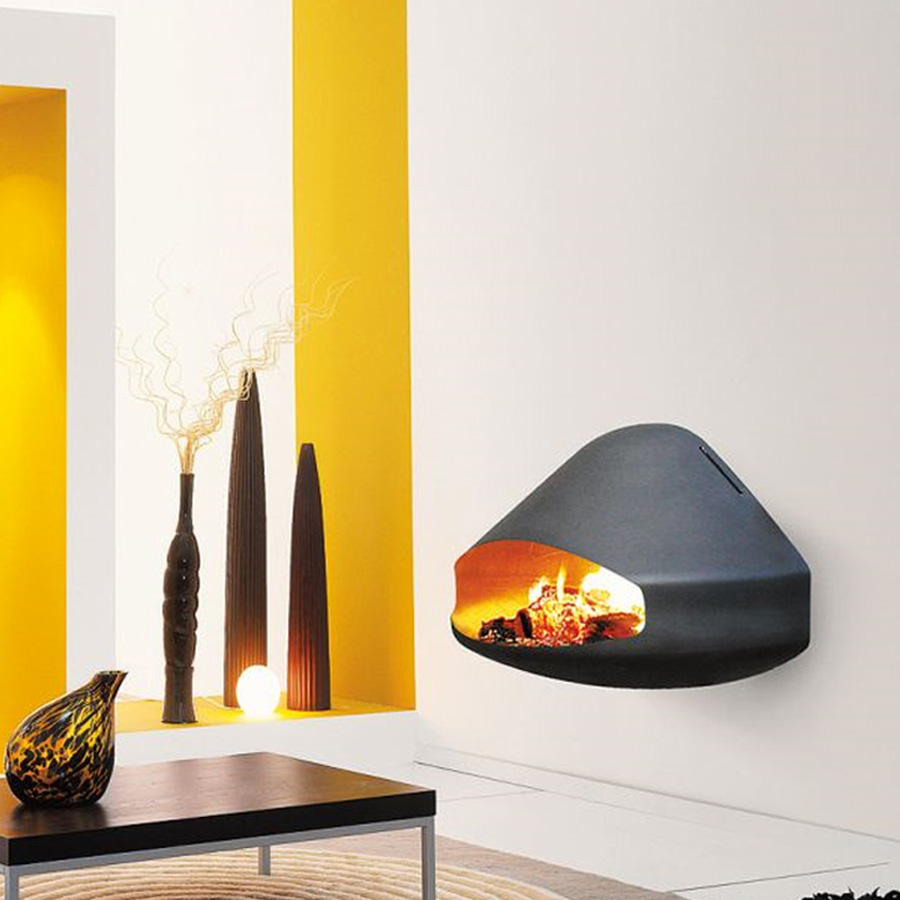 FOCUS FRANCE Wood Fire Frontal Miofocus Black